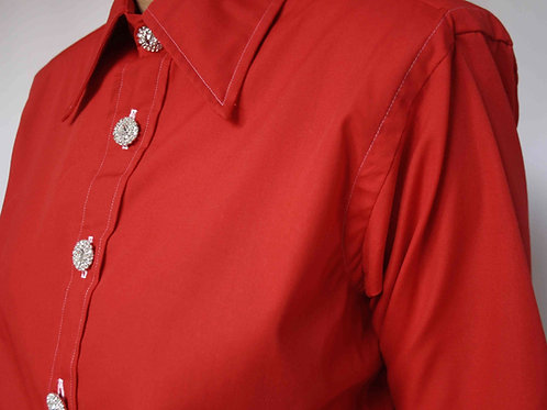 Reworked red vintage authentic Dior men shirt