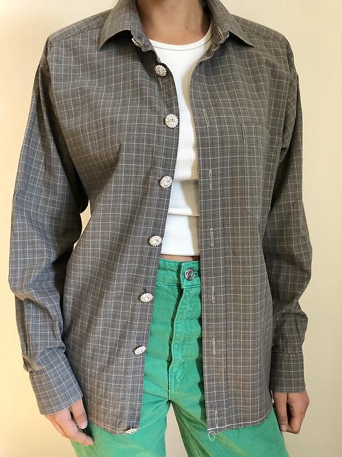 Reworked grey vintage authentic Dior men shirt