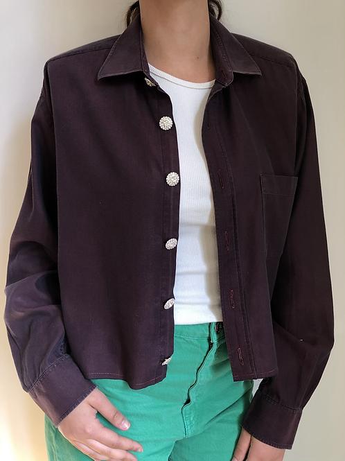 Reworked mauve vintage authentic Dior men shirt