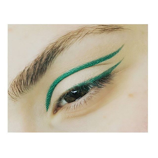#eyeliner #green #itsspringtime #makeup #makeupartist #art #line