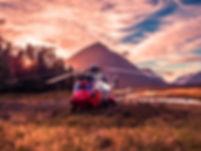 Sonnenuntergang Hubschrauber-Fahrt