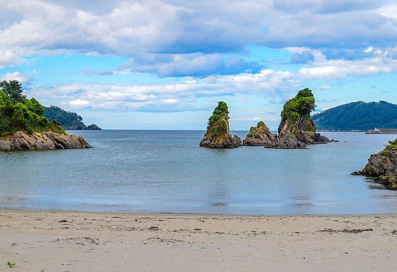 Viveiro Beach in Galicia, Spain