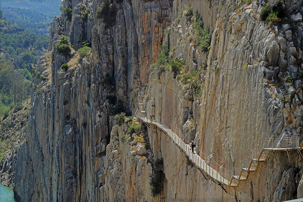 Don't look down at the Caminito del Rey when hiking in Spain