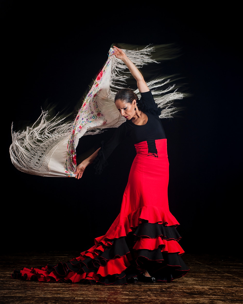 Throughout history, Flamenco Dancers express deep emotion through body language and facial expressions