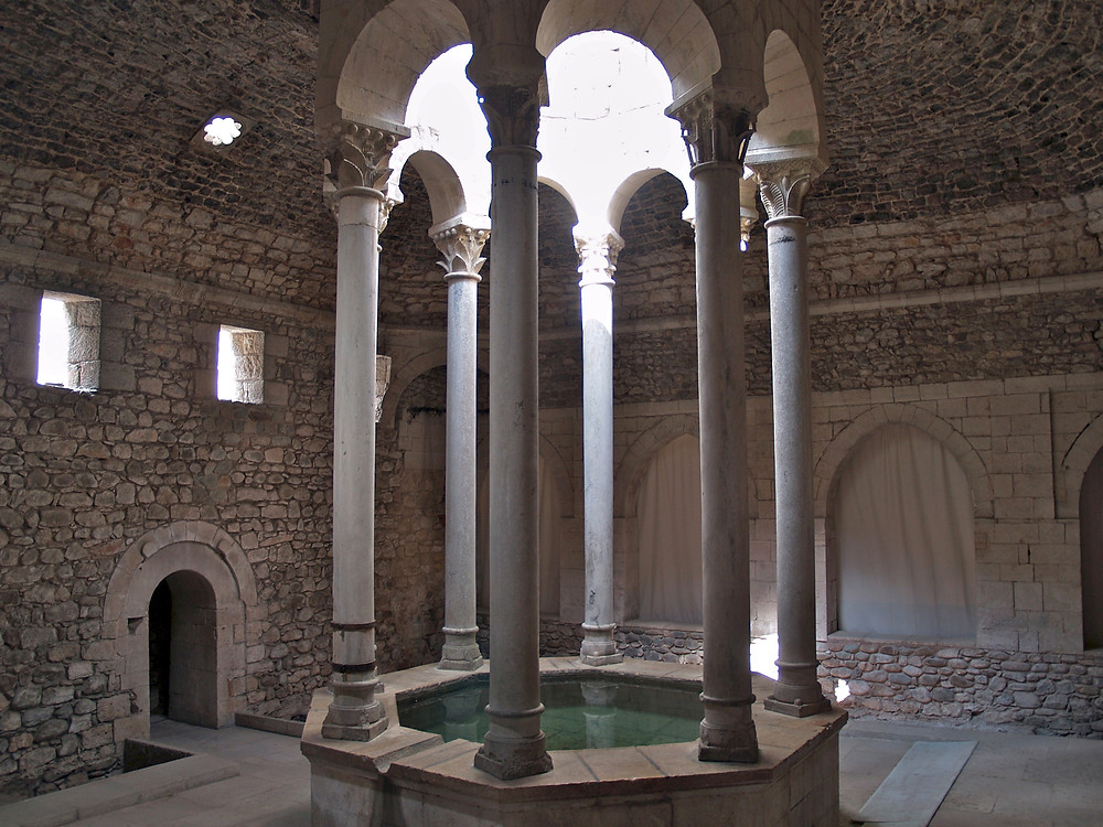Ancient Arab baths in Girona, Spain in Game of Thrones