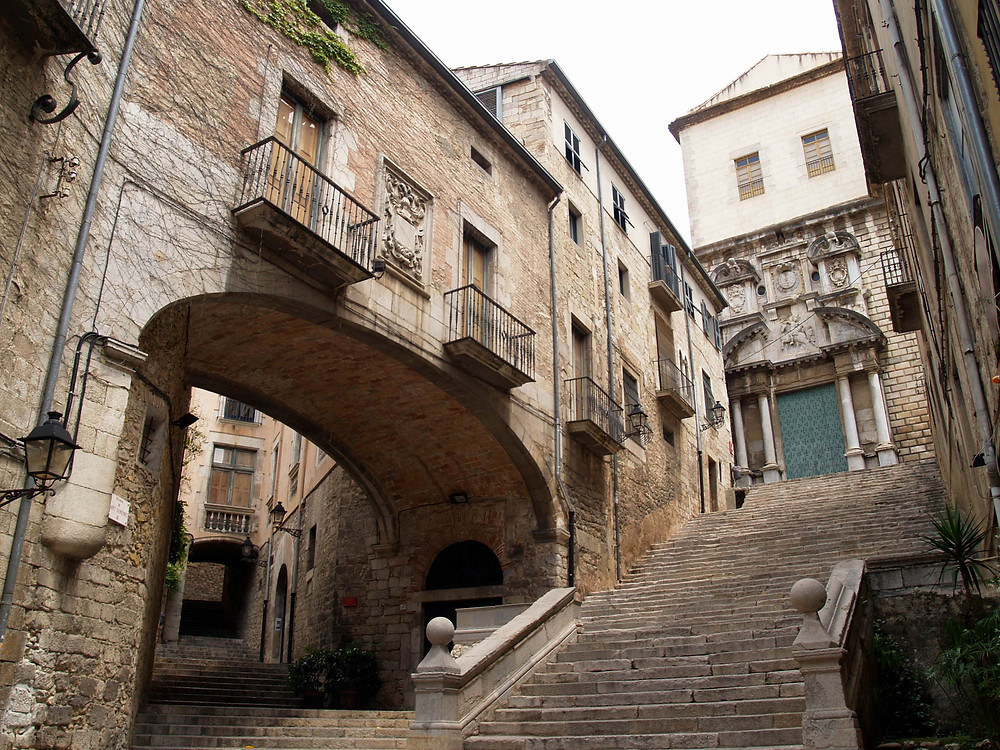 Steps of Saint Dominic in Girona in Spain of Game of Thrones