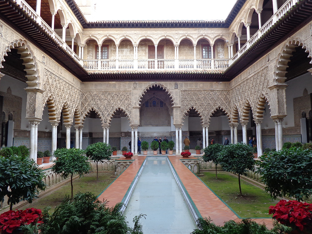 Royal Alcazar Palace in Seville, Spain of Game of Thrones