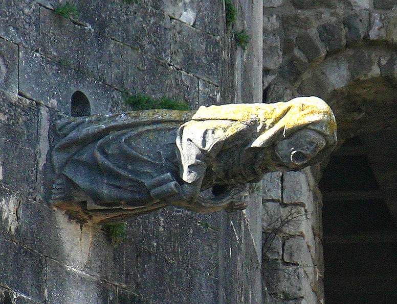 The stone witch at the Girona Cathedral