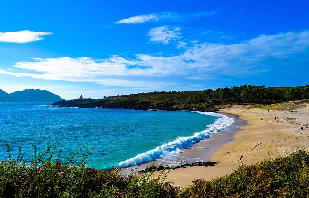 Melide Beach in Galicia, Spain