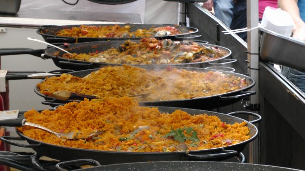 Valencian Paella baked in a traditional style pan