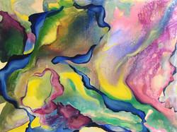 """DXB #3 24""""x18"""" Acrylic on Canvas"""