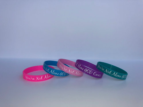 You're Not Alone Wristbands