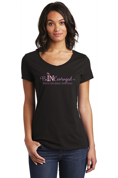 Be-In-Couraged - V-Neck Tee