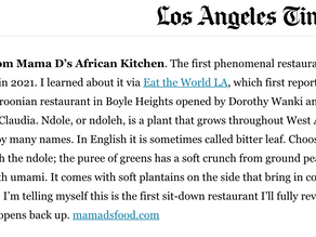 Mama D's was featured on KCRW & in Los Angeles Times