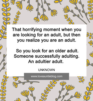 Adulting: Monthly Quotation