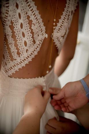Dos nu robe mariée Pronovias dentelle