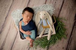 Doudou baby boy fond photo bois