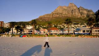 Le cap plage coucher soleil