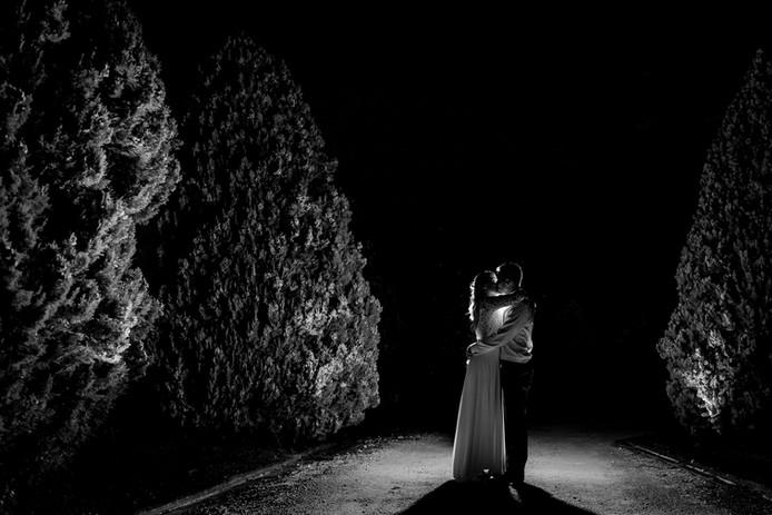 silhouette mariés bordeaux