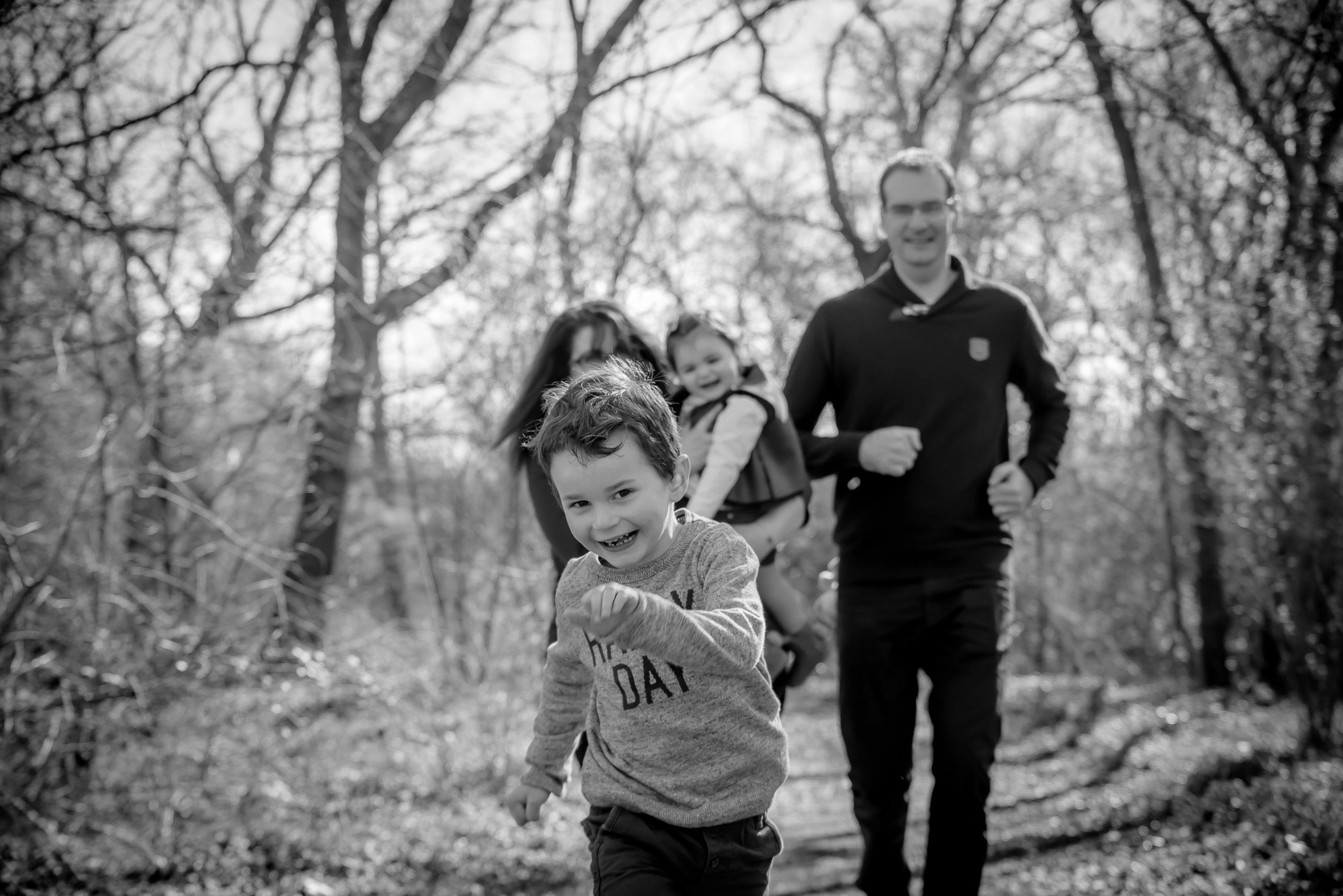 Course en famille forêt Pays Loire