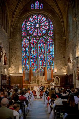 Vitraux Abbaye léhon dinan mariage