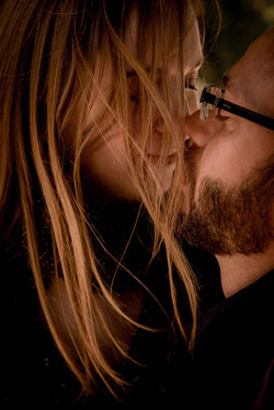 Tendre baiser amoureux