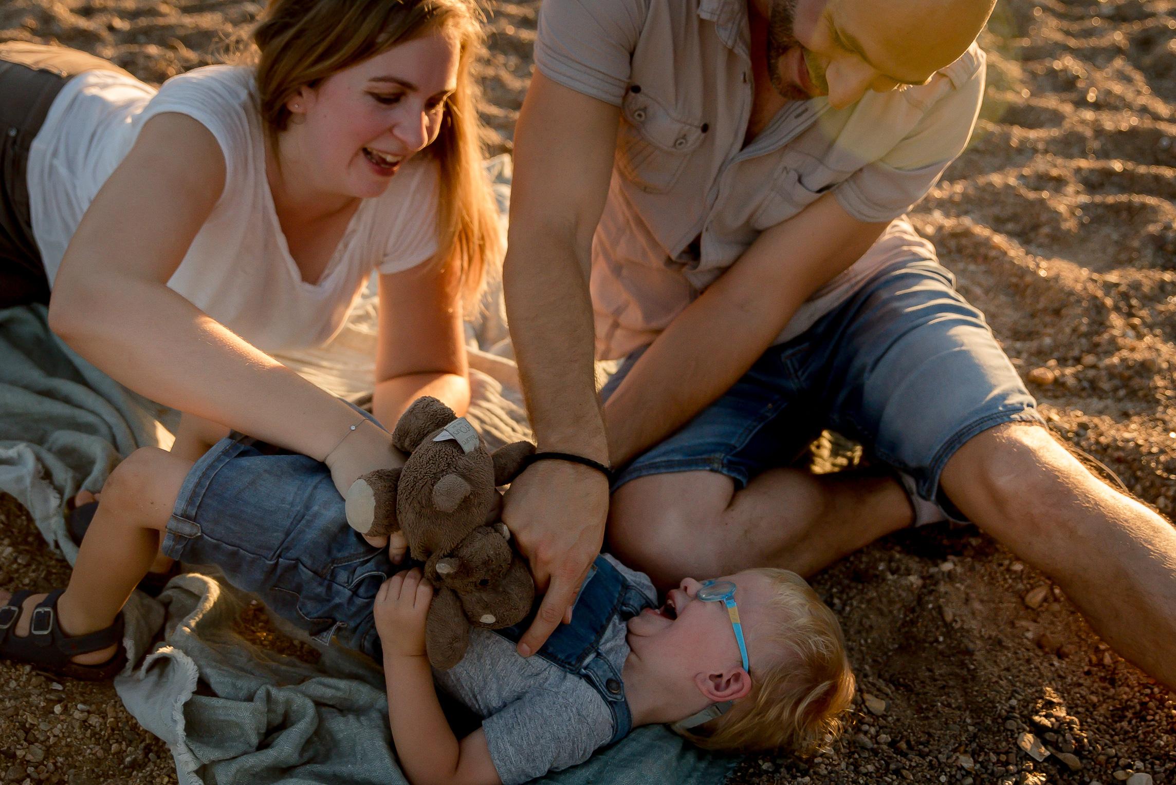 En famille sur le sable Tours
