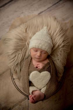 Bonnet pointu laine bébé lutin chou