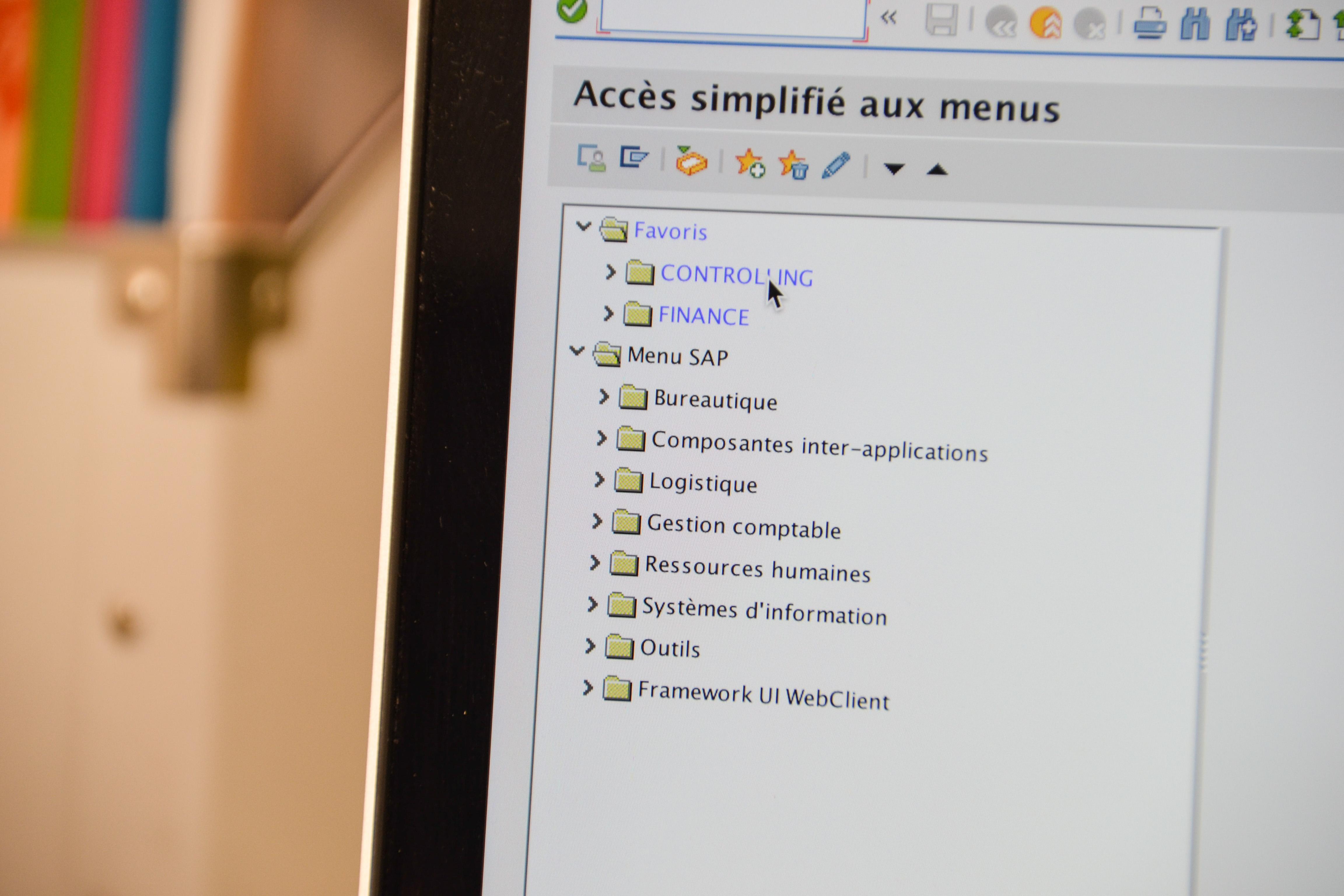 Accès Simplifié aux Menus SAP