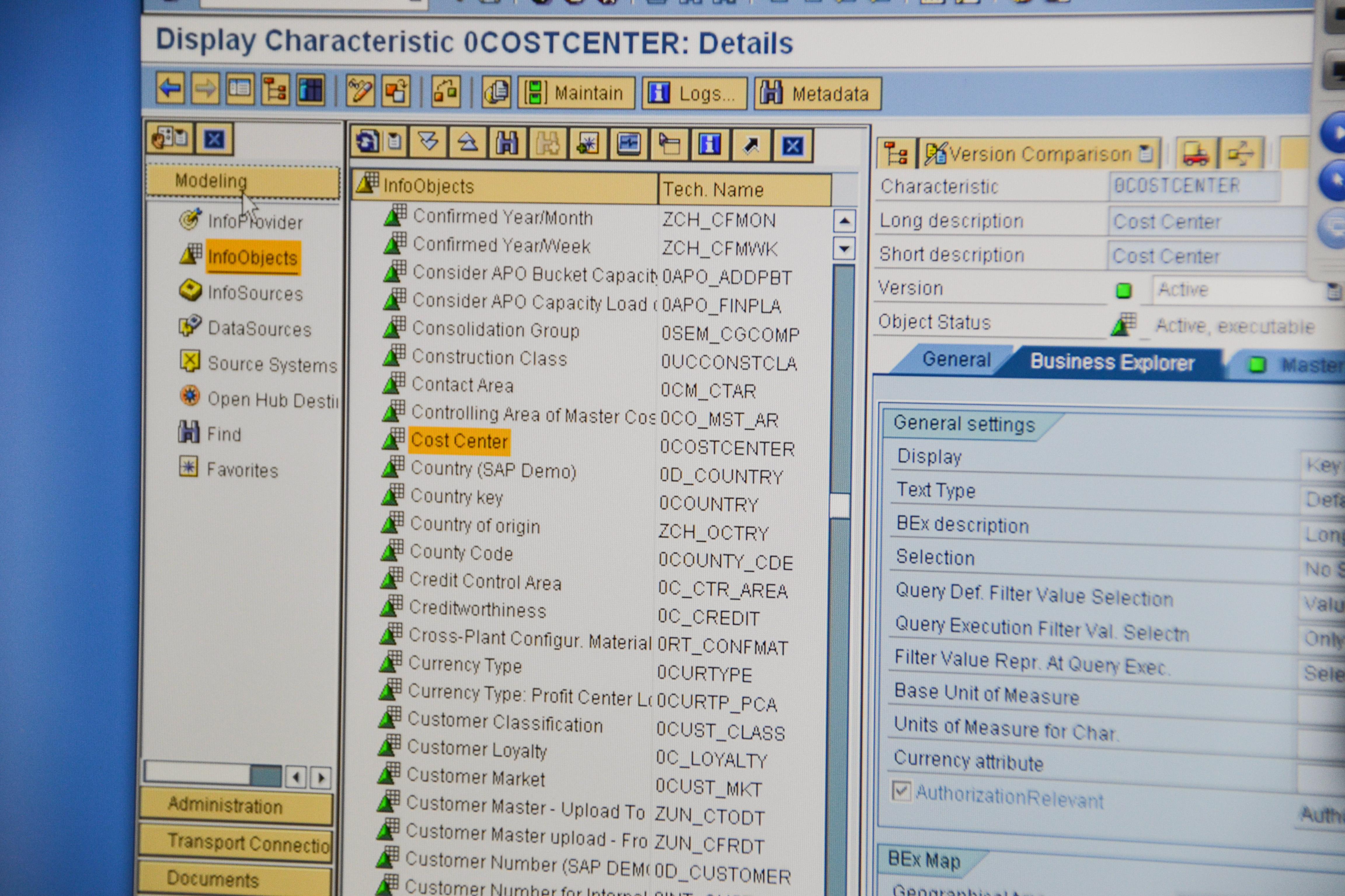 Se former à SAP : capture d'écran