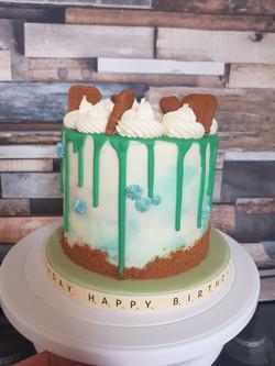 A Male Birthday Biscotti Cake