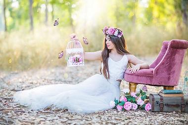 נסיכת היער עם פרפרים