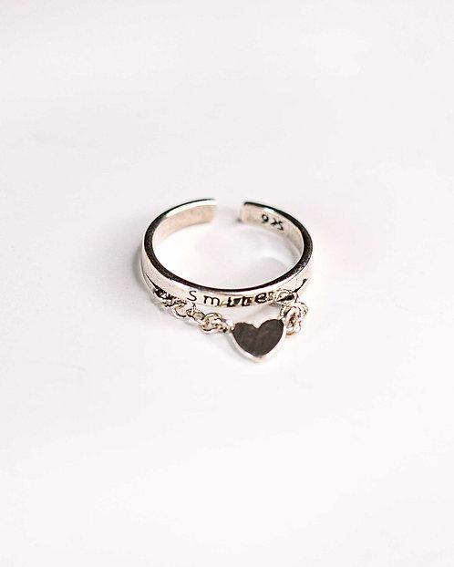 טבעת סמייל הארט