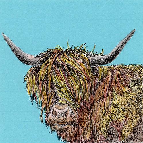 Greeting Card - Highland Moo