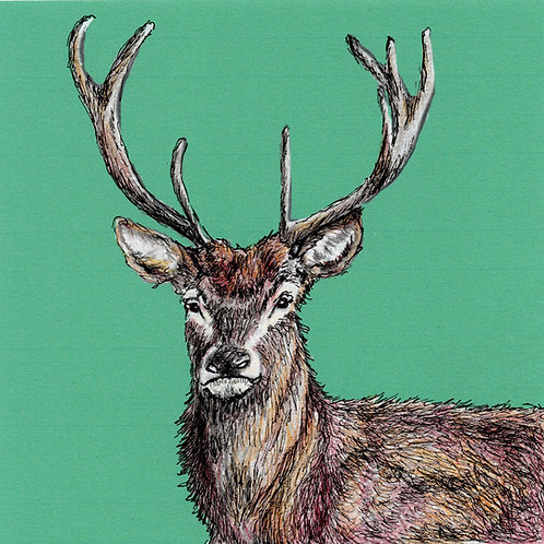 Greeting Card Stag
