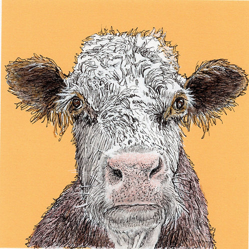 Greeting Card - How Now Brown Cow
