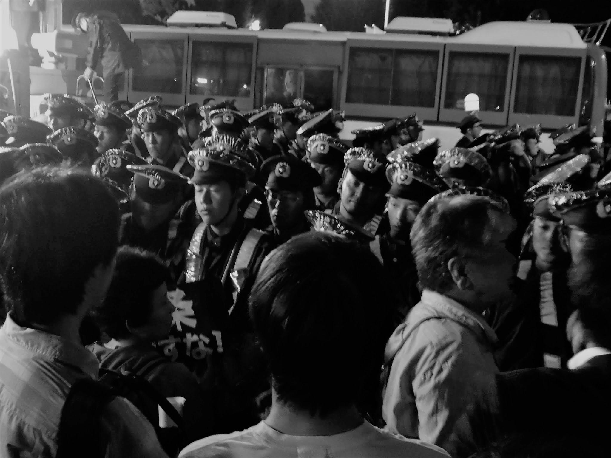 2015年09月18日 国会正門前