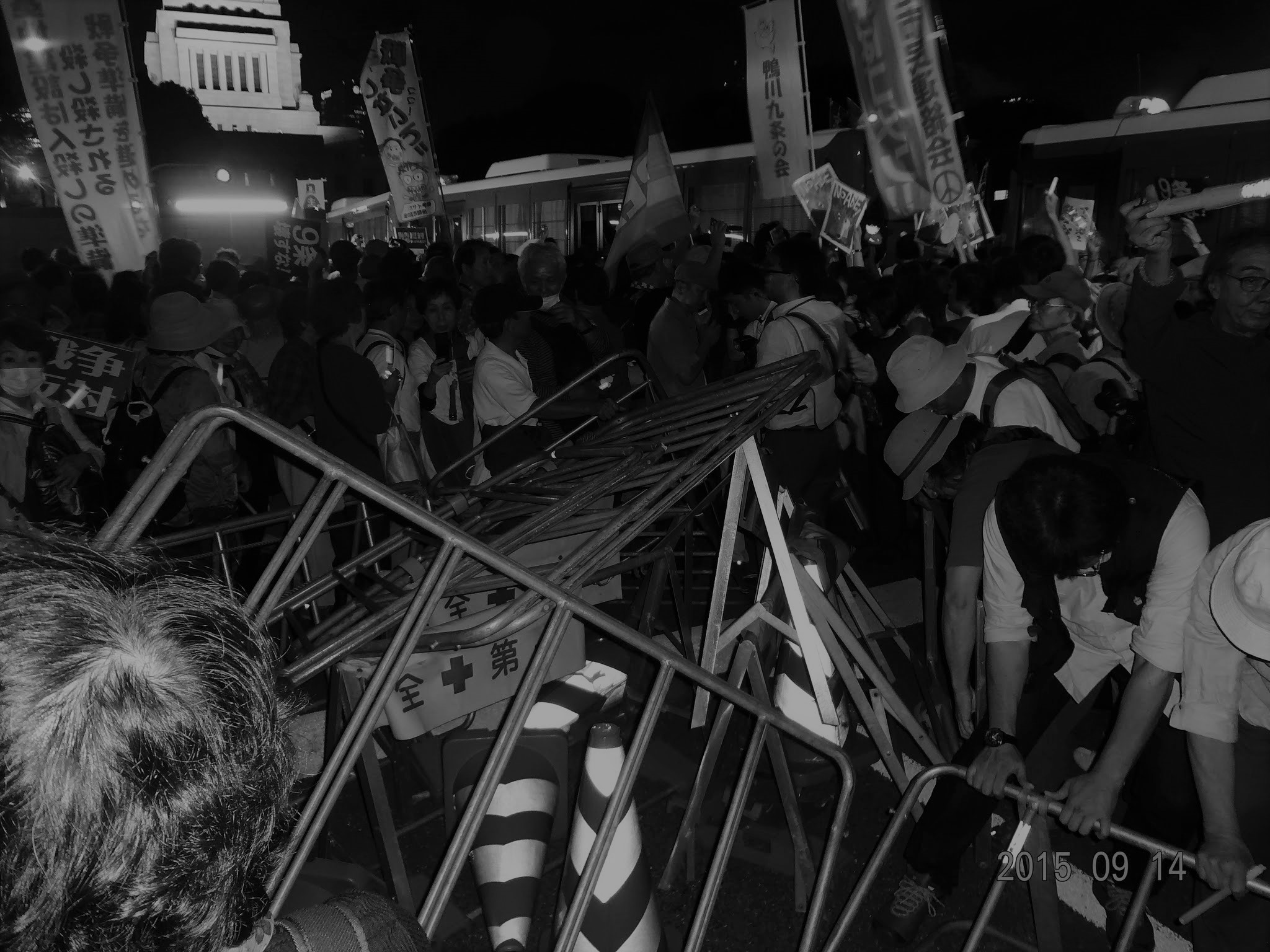 2015年09月14日 国会正門前