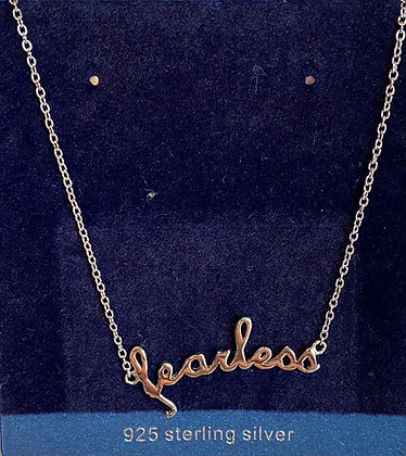 """Sterling Silver """"fearless"""" necklace"""
