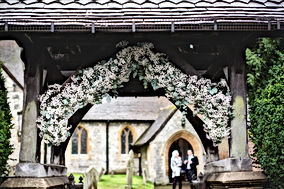 Lych Gate Flowers by Daniel Lewis Photography