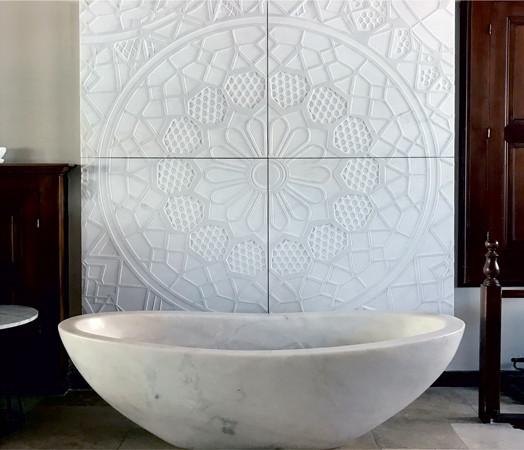 White Marble Washbasin