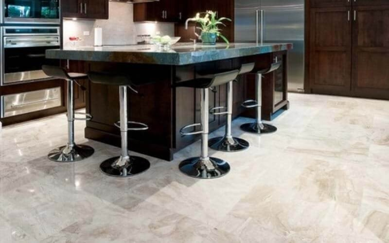 diana royal marble looks amazing on kitchen flooring