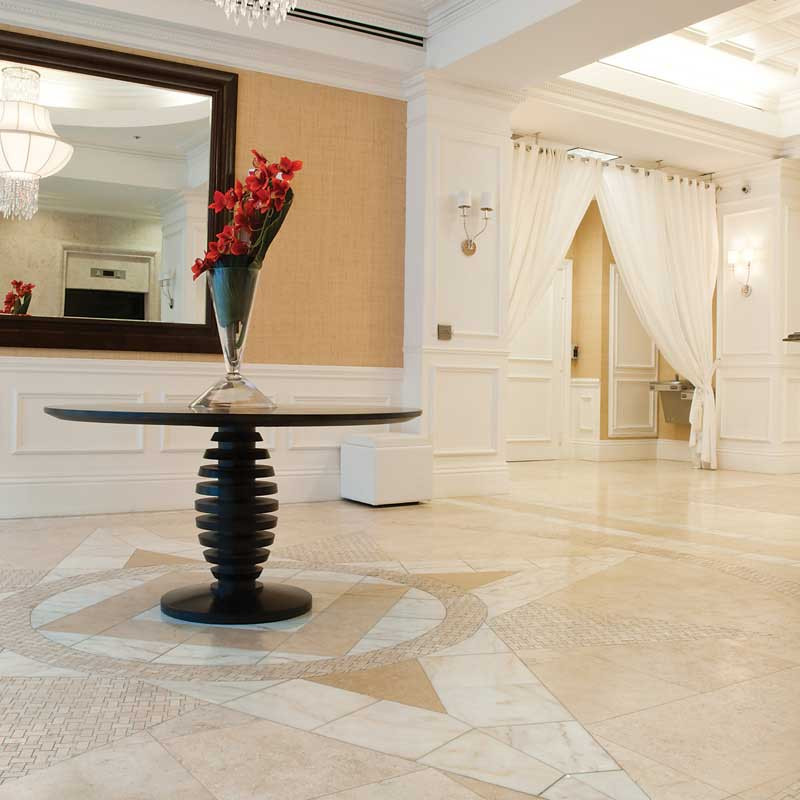 it is one of the most popular marble worldwide for cream color floorings.