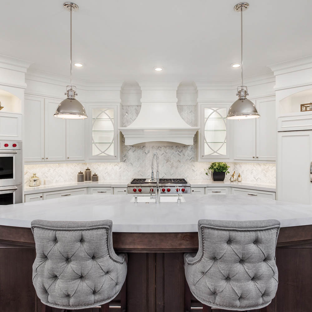 Afyon White Marble is also preferred for kitchen or dining tables.