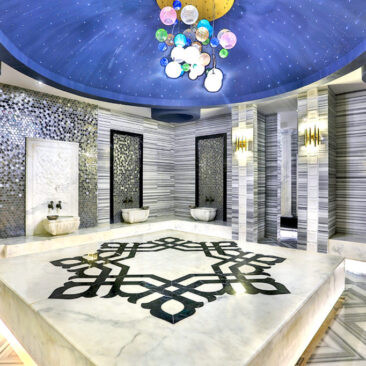 Turkish Baths look amazing with Turkish Afyon White Marble.