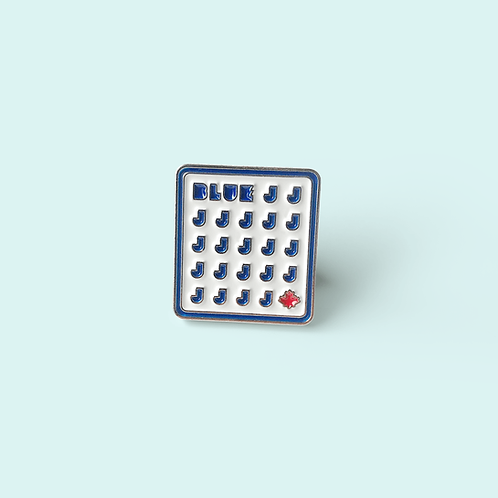 "BLUE J's - Enamel Pin 0.75"""