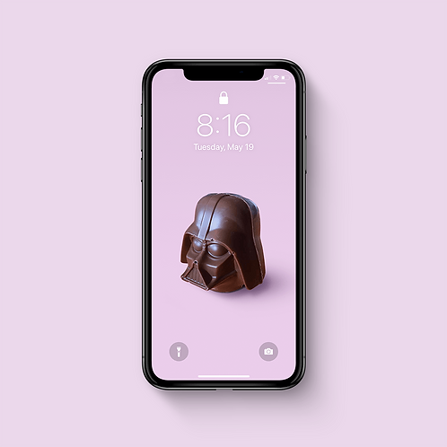 DARTH CHOCOLATE - iPhone Wallpaper
