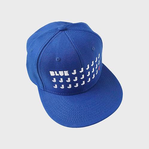 Blue Js Snapback Hat, Blue
