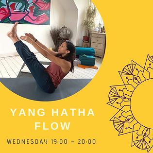 Wed Yang Hatha Flow 19.00-20.00 JuneJuly