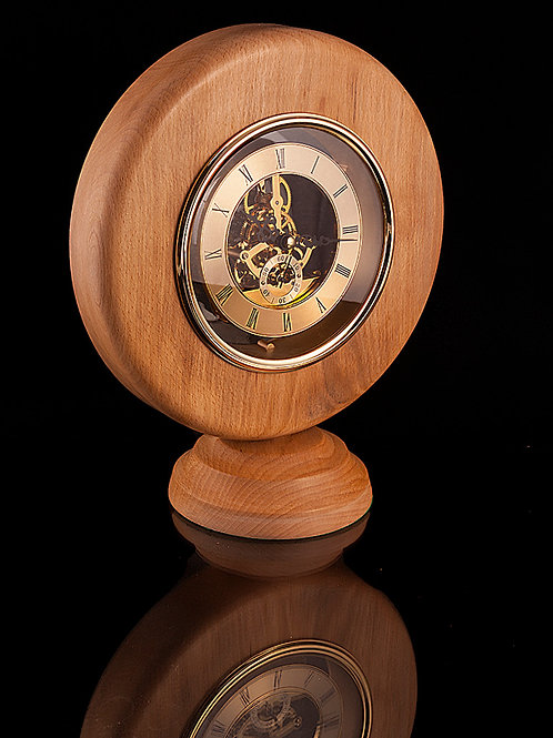 Beech wood with 150mm skeleton clock